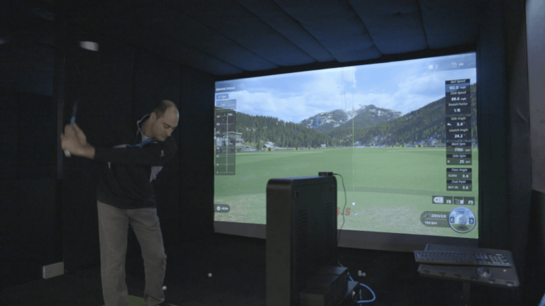 Golfsimulator-in-action